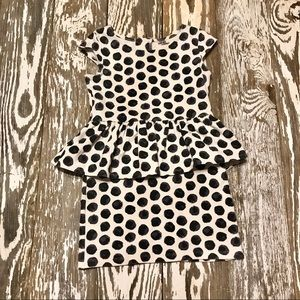 Genuine Kids Fitted black and white polka dot